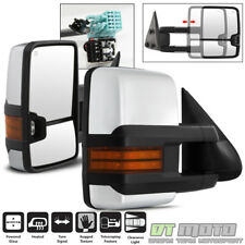 LEFT+RIGHT 2003-2006 Silverado Sierra Power+Heated+LED Signal Tow Mirrors CHROME