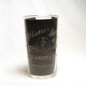 Antique C. Schmidt & Sons Brewing Co Pre-Pro Etched Philadelphia Shot Glass