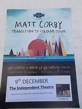 MATT CORBY TRANSITION TO COLOUR AUSTRALIAN TOUR POSTER  MINT