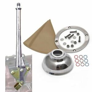 Ford 16 Transmission Mount Emergency Hand Brake Tan Boot, Silver Ring and Cap