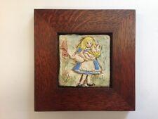 B.A. Schmidt Alice & Pig Watch Art Tile Family Woodworks Arts & Crafts Frame