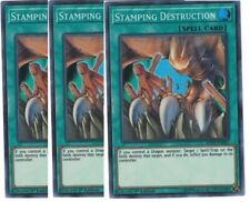 3x Stamping Destruction Yugioh Spell Cards The Best Magic Bundle Set A Good Deal