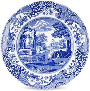 """Spode Blue Italian ceramic dinner plate 27cm (10.5"""")"""
