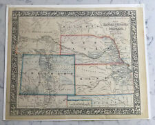 ANTIQUE MAP OF KANSAS, NEBRASKA, AND COLORADO DACOTAH S. AUGUSTUS MITCHELL 1861
