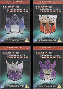 Transformers Classic Animated Series Season 1 2 3 4  --------NEW-------  select