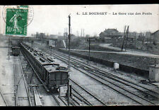 LE BOURGET (93) TRAIN en GARE , PASSERELLE & VILLAS en 1923