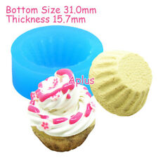 GEB162 31mm Cupcake Tart Bottom Silicone Mold Chocolate Resin Jewelry Making