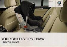 BMW Accessory Child Seats 2010 UK Market Foldout Sales Brochure