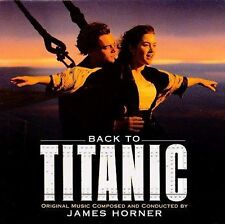 BACK TO TITANIC Music from the Motion Picture ~ Jack Horner CD w/Poster Sealed