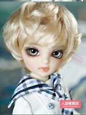 NEW YOSD 6~7 inch 15~17cm Mohair 1/6 doll Wig Tiny BJD Hair golden AOD MK DOD