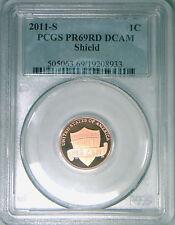 2011-S PCGS PR69DCAM proof Lincoln cent DCAM deep cameo