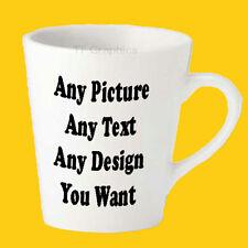 12oz Latte Mug - Printed with Your Custom Design, Images Text & Logo!