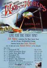 JEFF WAYNE - 2006 TOUR FLYER - WAR OF THE WORLDS LIVE RARE MUSICAL CONCERT PROMO