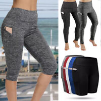 Women Yoga Fitness Leggings Sport Pants With Pocket Running Gym Workout Trousers