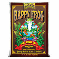 Foxfarm FX14047 pH Adjusted Happy Frog Potting Soil Mix 2 Cubic Feet Bag