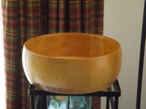 "John Mcleod Wood Serving Bowl 14.5"" Williams Sonoma Handmade"