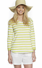 BNWT 2 X : 3/4 SLEEVE T-SHIRTS 1 X GREY STRIPE & 1 X LIME STRIPE SIZE SMALL NEW