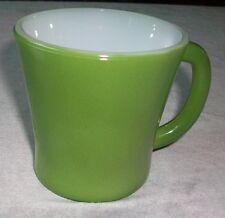 Vtg Jeanette Glasbake Coffee Cup Mug 8 ounce Avocado Olive Green New