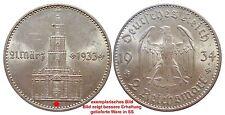 J355 2 Mark DRITTE REICH Garnisonskirche m Datum 1934 F  520007