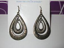 Textured Earrings -Rv $38 *Rare Lia Sophia Kiam Collection Matte Gold