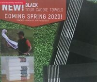 Tour Caddy Golf Towel All Black/White Stripes America's No. 1 Selling Golf Towel