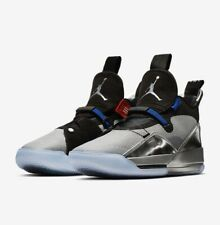 Air Jordan XXXIII 33 Metallic Silver Mens Size 17 Basketball Jumpman 23 Logo Fly