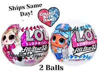 2 Balls LOL Surprise All Star BBs Big Sister Dolls Baseball Teams NEW In Hand