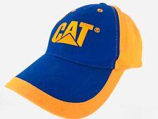 Caterpillar CAT Hat Embroidered Orange Blue Baseball Cap Adjustable
