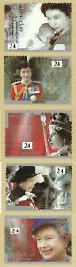 6 FEB 1992 QUEENS ACCESSION SET OF ALL 5 PHQ CARDS Number 141 MINT UNUSED