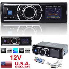 Car Stereo Audio In-Dash FM Aux Input Receiver SD USB MP3 Radio Player 1-DIN 12V