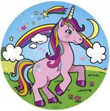 Tortenaufleger Einhorn rosa Regenbogen blau rund ca.20 cm Unicorn Geburtstag 2