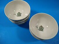 6 Thomson Pottery BIRDHOUSE Pattern Cereal Soup Bowls