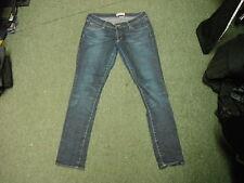 "& SQIN Jeans Waist 32"" Leg 32"" Faded Dark Blue Ladies Jeans"