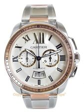 CARTIER Calibre Chronograpah Watch Steel/18k RG W7100042 Box/Papers/Warranty