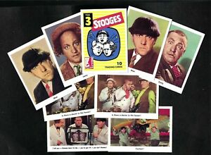 THREE STOOGES 1959 FLEER RE-ISSUE COMPLETE PROMO CARD SET  (25) W/VARIATIONS