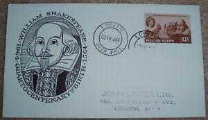 BECHUANALAND - William Shakespeare 400th Birth Anniversary - 1964 FDC