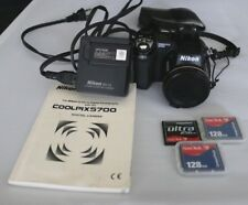NIKON COOLPIX 5700 5.0 MEGA PIXEL DIGITAL CAMERA +EXTRA BATTERY +3 COMPACT FLASH