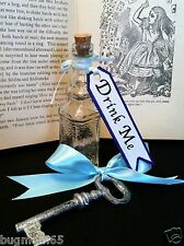 Alice In Wonderland 'Drink Me' Square Bottle & Large SILVER Key Costume Cosplay