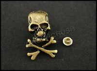 10Sets Antique Brass Skull Croossbone RIVET Leather Brad Concho Nailhead RV8220