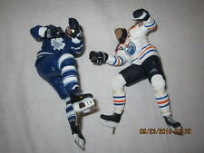 Lot of Two Hockey Player Figurines SMITH #21 V C Oilers #2 Leetch Toronto M L