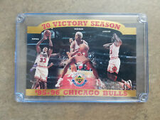 1995-96 Chicago Bulls 70 Victory Season UD numbered C Card, M Jordan, S Pippen