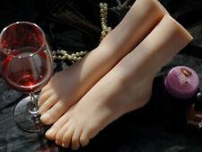 Size 36 Lifelike Silicone Female Legs Feet Mannequin Shoes Socks Display Model
