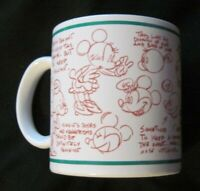 Disney Minnie Mouse Model Sheet 14 oz Ceramic Coffee Mug from Applause EUC