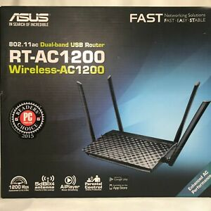 Asus RT-AC1200 Dual-Band 2.4GHz 5Ghz IEEE 802.11ac Wireless Router RJ-45 USB