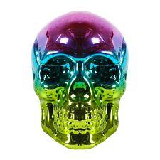 Rainbow Skull Light LED Lighted Mirrored Glass Halloween Decoration Accent Light