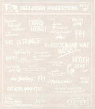 Verlinden Productions 1:35 WWII Allied Wall Slogans White Decal Sheet #357