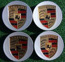 Set Four 4 OEM Factory Genuine Porsche MACAN Color Logo Crest Wheel CENTER CAPS