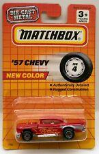 Matchbox '57 Chevy Redk w/Flames Flip-Hood 1957 Chevrolet MOC c1993 1:67 Scale