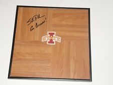 Steve Prohm Signed Framed 12X12 Floorboard Iowa State Cyclones Proof St.