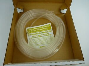 TYGON Tubing Clear, 1/8 In. ID, 3/16 OD,1/32 Wall,Length 50 ft., ACF00006, Clear